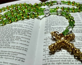 R048 Christian Prayer Beads Traditional Catholic Rosary