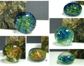 Custom Lampwork Glass Frit Implosion Cabochons