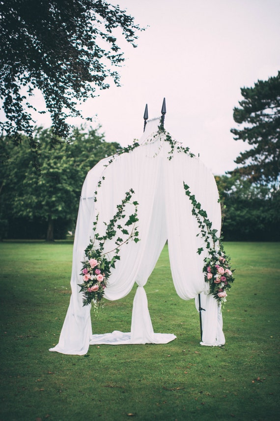 Wedding Ceremony Arch With Fabric