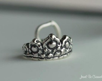 Small Sterling Silver Tiara Charm Princess Queen Fairy Tale Solid .925