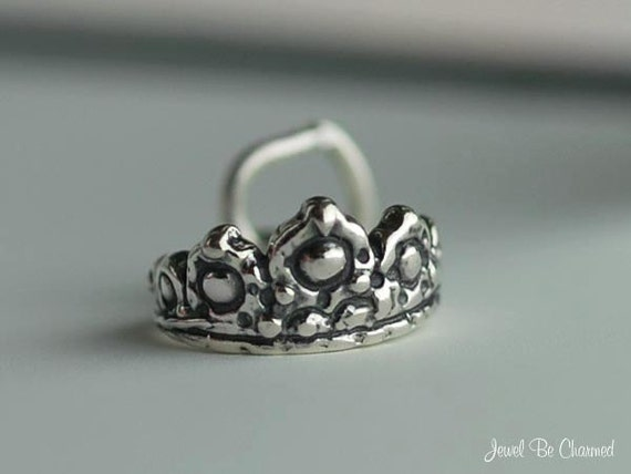 Tiara Charm Small Sterling Silver Princess Queen Fairy Tale Tiny .925