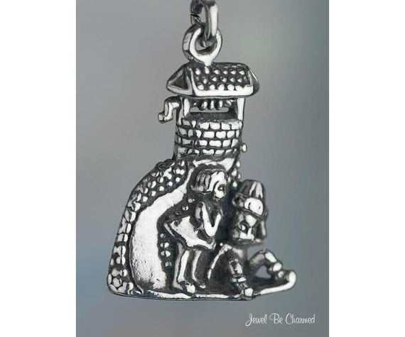 Jack and Jill Charm Sterling Silver Nursery Rhyme for Children .925