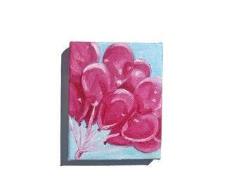 Pink Balloon Painting - Balloon Art, Balloon Painting, Pink Balloons, Pink Painting, Magenta, Magenta Painting, Pink Art