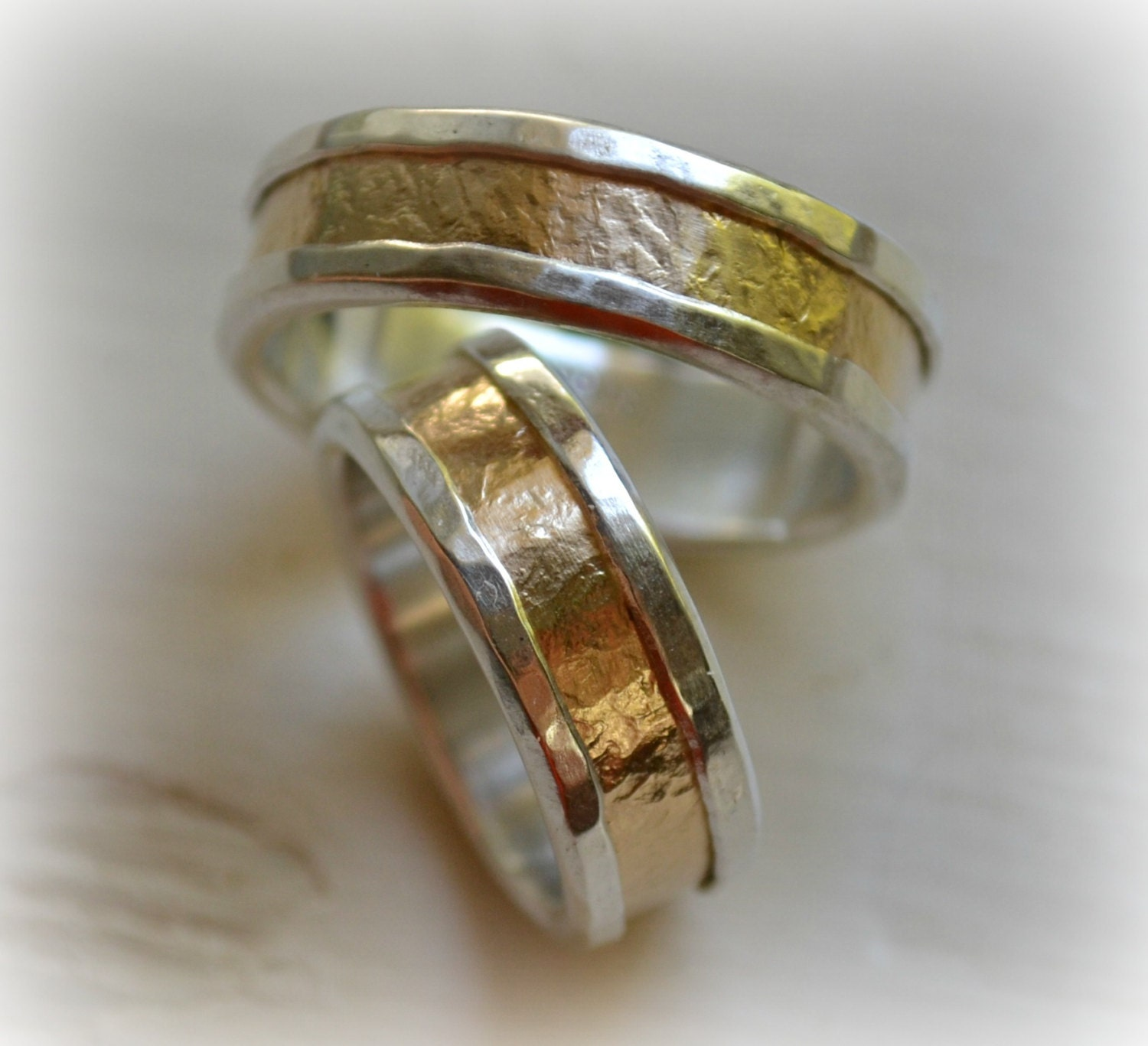 His And Hers Wedding Bands Artisan Designed By MaggiDesigns