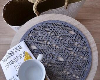 Felt big coasters lace  wheel , four elements