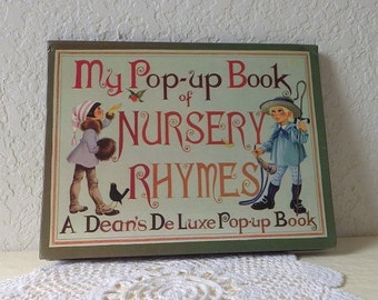 My Pop-up Book of Nursery Rhymes, Dean's DeLuxe Pop-up Book, 1982. Illustrator Anne Johnstone