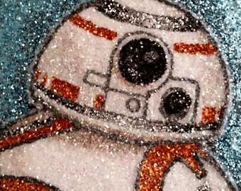 BB-8 glitter art 6x6