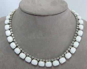 White Milkglass Choker Necklace