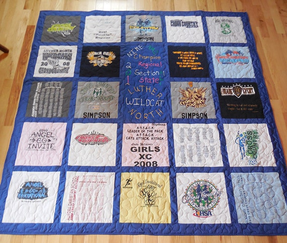 25 T-Shirt Memory Quilt With Sashing FREE by ...