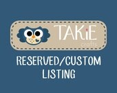 Reserved Custom Listing for san3gkids4me  - 8 Felt Owl Ornaments Baby Shower Party Favors