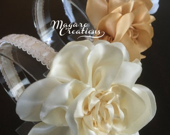 Flower headband,girl headband,flower girl headband,toddler headband,1st. communion headband,headband for girls,hard headband,10.