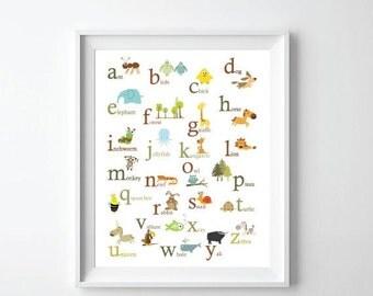 ON SALE Animal ABC Print - 11X14
