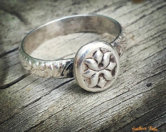 Sterling Silver Concho Ring Custom Size