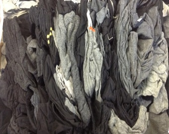 Lot of 100 Black and Grey Wool Sweaters - Used Wool Sweaters - Upcycled Wool Sweaters