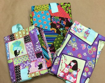 Japanese Geisha Reuseable Washable Grocery Shopping Bags Set of 3