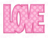 Digitizing Dolls LOVE Applique Machine Embroidery Design 2.5x2.5 4x4 5x7 6x10 Valentines Day INSTANT DOWNLOAD