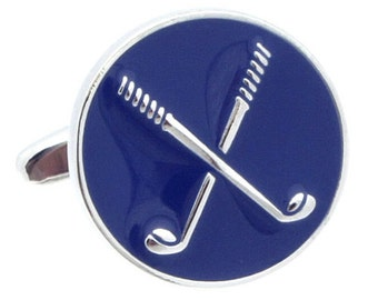 Items similar to vintage golf cufflinks fancy club hole in for Golf buflings