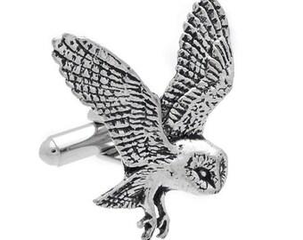 Owl Pewter Cufflinks