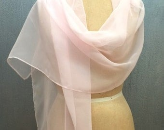Cotton Candy Chiffon Shawl Wrap Scarf