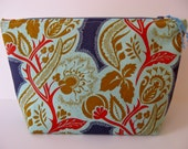 Nouveau Floral Large Cosmetic Bag, Zipper Pouch, Pencil Case, Toiletry Bag, Travel Bag, Dopp Kit