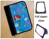 personalized HARD case - ipad case/ kindle case/ nook case/ samsung case/ others - full zipper close - little mermaid