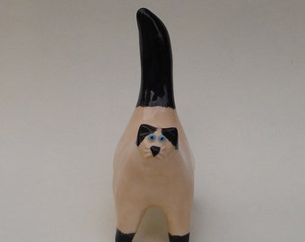 siamese cat, handmade ceramic sculpture