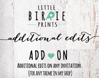 Add-on Additional edits On an order