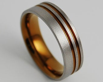 Mens Wedding Band , Titanium Ring , Promise Ring , The Andromeda Band