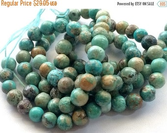 55% ON SALE Turquoise Beads Natural Turquoise Rondelle Beads Turquoise Necklace Tibetan Beads 4mm Beads, 13 Inch Strand
