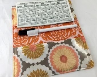 Duplicate Checkbook Cover Register Check Book Cover -  Art Gallery Reminisce Enamored in Melon