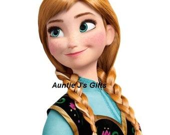 "CROCHET graph with instructions PATTERN, Anna, Frozen, 50""x51"""