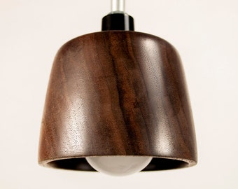 Wood Pendant Light, handmade from Eastern Black Walnut