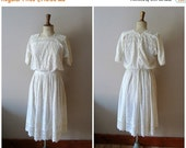 20% OFF EASTER SALE 1910s Tea Dress/ Edwardian Lace Lawn Dress