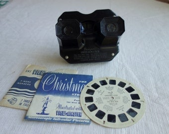 Vintage Sawyers Viewmaster Bakelite with 1955 Christmas Story reel 3 with book