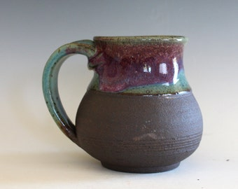 Pottery Mug, 12 oz, handthrown ceramic mug, stoneware pottery mug, unique coffee mug