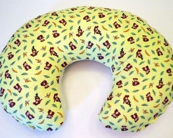 Boppy Nursing Pillow Reversible Cover: Monkeys with Yellow stripes