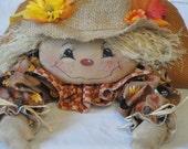 Primitive Scarecrow shelf sitting cloth art doll by MorningMistDesigns