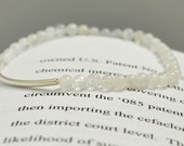 The Signature Bracelet (2)- moonstone bead and sterling silver tube bead braided stackable VDazzled bracelet