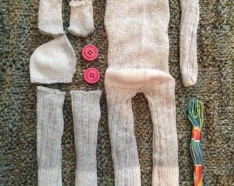 Hand-Sewn Sock monkey Kits!