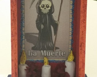 Day of the dead / Dia de los Muertos Colorful and festive Nicho Altar Shrine