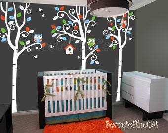 Nursery wall Decal - Wall Decals Nursery -Tree Decal - Birch Trees decal - Birch trees - Wall Decal - Tree