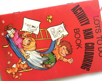 Vintage colouring book