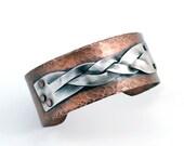 Copper Cuff | Mixed Metal Bracelet | Copper and Silver | Unique Bracelet
