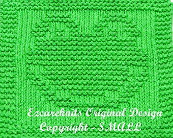 Knitting Cloth Pattern - FROGGY FACE - PDF