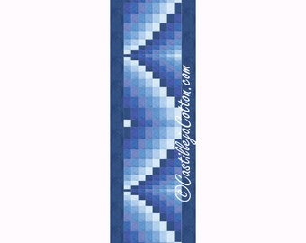 Bargello Ribbons Table Runner Quilt Pattern, 4591-16, bargello wall quilt, bargello wall hanging