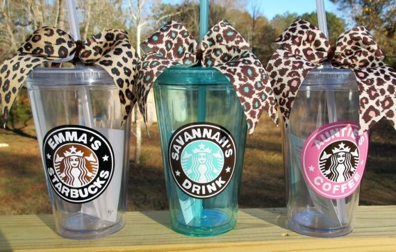 Personalized starbucks tumbler like this item pronofoot35fo Choice Image