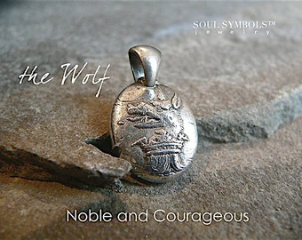 GREAT COURAGE,  Loyal Guardian,the WOLF Handmade Wax Seal Necklace, Mens Jewelry, Jewellery, Your Daily jewels, Game of Thrones