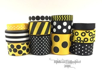24 Yds BUMBLEBEE  wholesale grosgrain ribbon collection   Low Shipping Cost