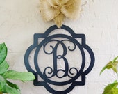 Double Framed Metal Monogram Framed Initial Letter