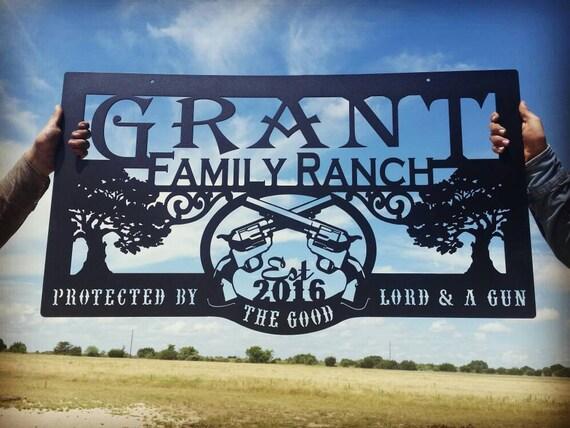 Western Metal Art Farm Or Ranch Sign Lmw 16 24